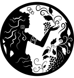 doodle silhouette vector image