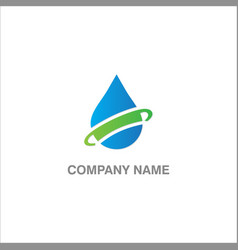 Droplet eco water logo vector