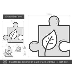Environment line icon vector