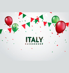 festive celebration party background italy vector image