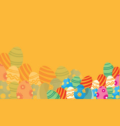 Flat of easter theme backgrounds vector
