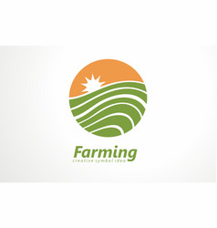fresh farm products logo organic vector image