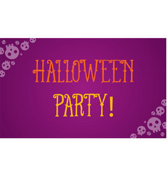 Halloween party with purple background vector