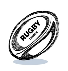 Hand drawing rugby ball design vector