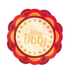 happy bhai dooj celebrated hindus floral vector image