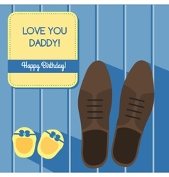 Happy birthday for father Greeting card design vector