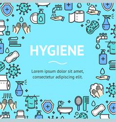 hygiene round design template line icon concept vector image