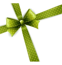 Isolated green polka dots bow vector