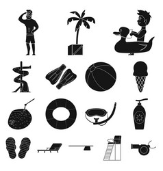 isolated object of pool and swimming symbol vector image