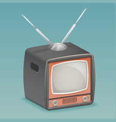 isometric retro vintage old tv placeholder frame vector image