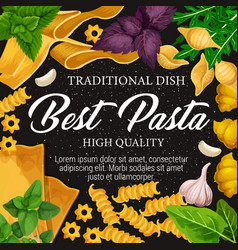 italian cuisine pasta spice and herbs vector image