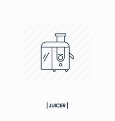 juicer outline icon isolated vector image