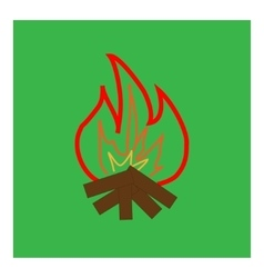 Kindle campfire sign in green square vector