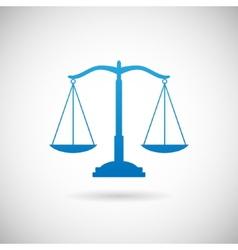Law symbol justice scales icon design template vector