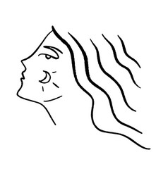 line art woman self love and care concept vector image
