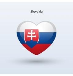Love Slovakia symbol Heart flag icon vector