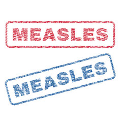 Measles textile stamps vector