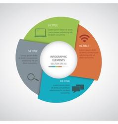 Modern Infographics circle vector