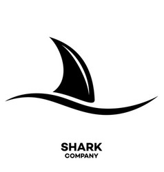 Modern shark logo vector