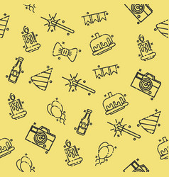 Party concept icons pattern vector