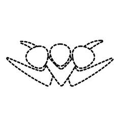 pictogram people sticker vector image