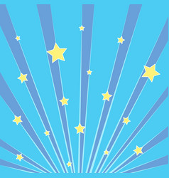 Pop art background blue rays of the sun the sky vector
