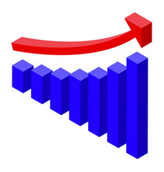Quality assurance graph chart icon isometric vector