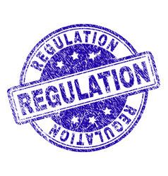 Scratched textured regulation stamp seal vector