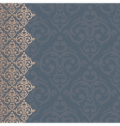 seamless baroque damask luxury background vector image vector image