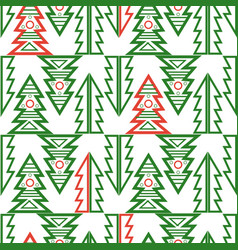 seamless merry christmas tree abstract vector image