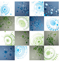 set of 3d abstract backgrounds created in vector image