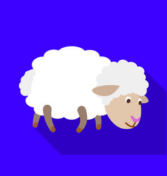sheep search grass icon flat style vector image