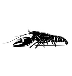Signal crayfish black and white vector