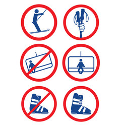 Ski signs vector
