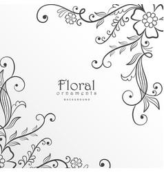 Stylish modern floral background design vector