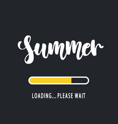 Summer loading please wait vector