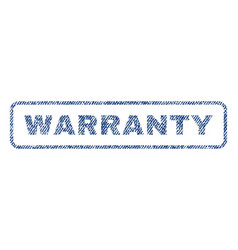 Warranty textile stamp vector