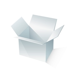 White box packaging vector