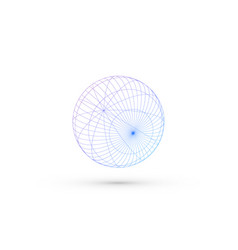 Wireframe sphere vector
