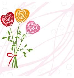 art heart rose vector image vector image