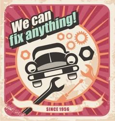 Auto service retro poster vector image vector image