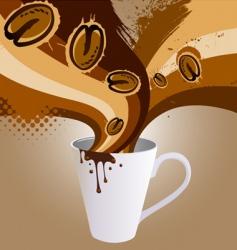 coffee explosion vector image