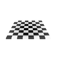 empty chess board in black and white design vector image vector image