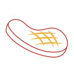 Fillet steak grilled meal icon vector