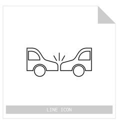 icon crash cars isolated on white background flat vector image