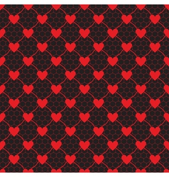 lace pattern with heart vector image