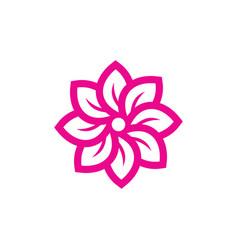 leaf circle shape abstract logo image vector image