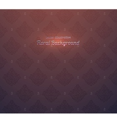 Maroon seamless floral background vector