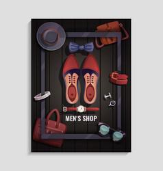 Men accessories poster vector