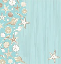 seashell beach party vector image vector image